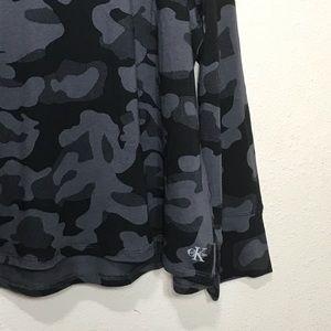Calvin Klein Tops - Calvin Klein Camo Spellout Light Hoodie Pullover